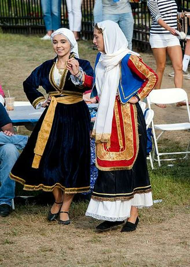The 37th annual Labor Day weekend festival, Odyssey 2017, will feature all things Greek — food, dancing, music and crafts — Friday, Sept. 1, through Monday, Sept. 4, at Saint Barbara Greek Orthodox Church in Orange. Above are dancers in ethnic dress. Photo: Saint Barbara Greek Orthodox Church / Contributed Photo
