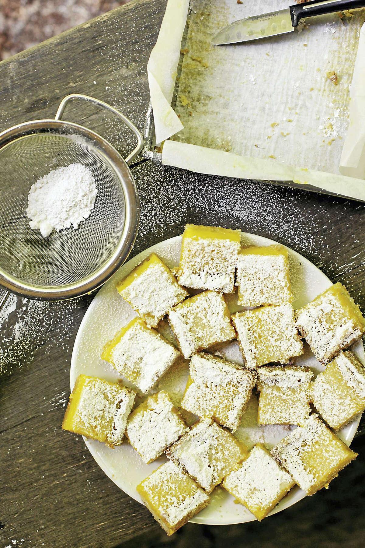Rosemary lemon bars.