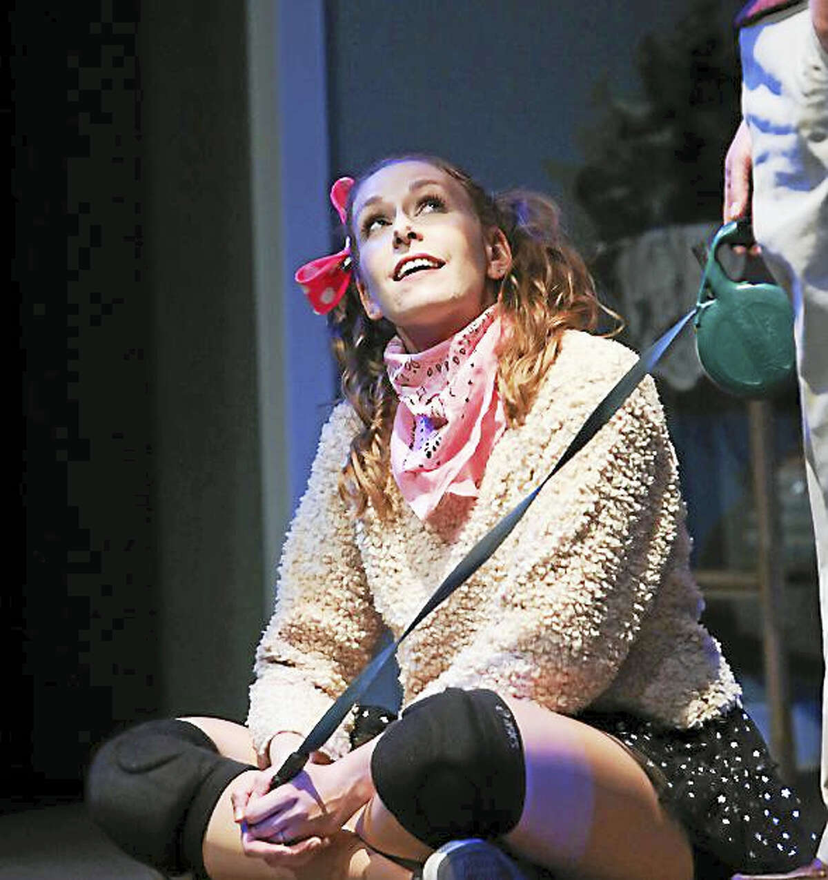 """The Goshen Players will present the comedy, """"Sylvia,"""" by AR Gurney, opening Friday at the Old Goshen Town Hall. Above, Kate Buffone as Syliva."""