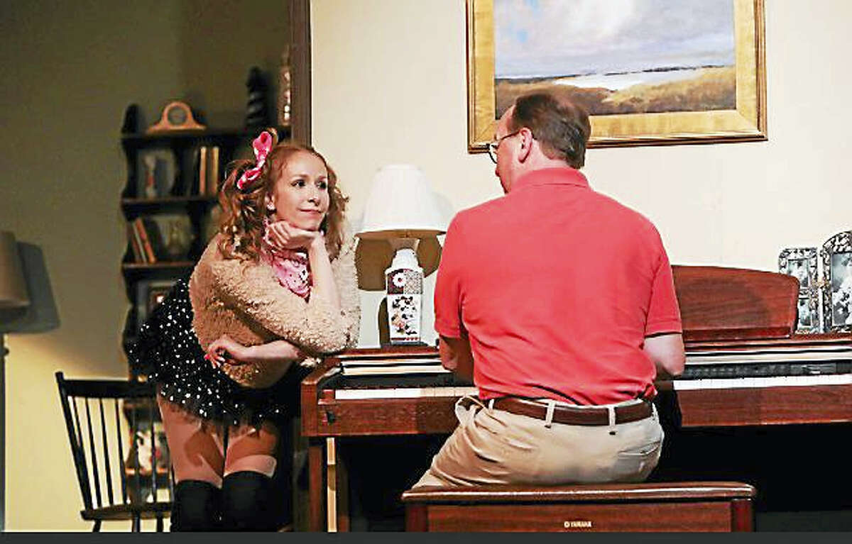 """The Goshen Players will present the comedy, """"Sylvia,"""" by AR Gurney, a play about a middle-aged husband and his wife, empty nesters, and what happens when the husbands develops a friendship with a Labrador-poodle mix dog named Sylvia."""