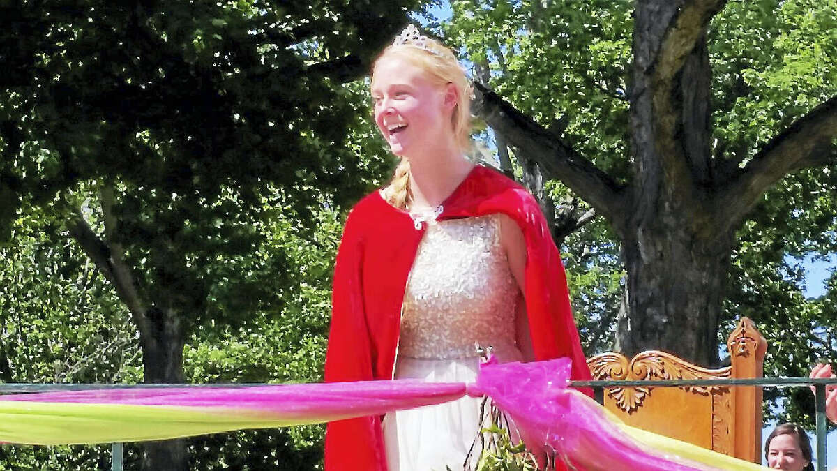 Grace Valickis, a senior at Winsted's Gilbert School, was crowned Laurel Queen during a ceremony at East End Park in Winsted on Sunday.