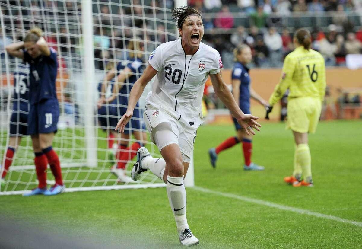 Former U.S. women's soccer star Abby Wambach.