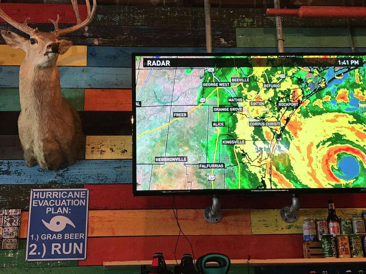 The folks at the Neches Brewing Company in Port Neches offer a little hurricane prep advice. Kim Brent/The Enterprise