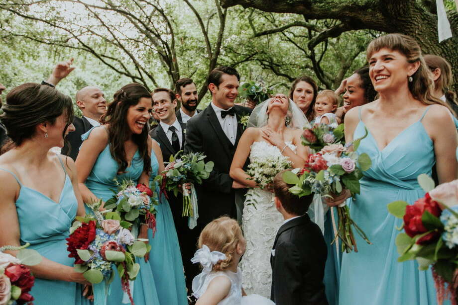 Russell Hudson and Stacey Szydlik marry at Rice University, reception at the Petroleum Club downtown Photo: LeZu Photography