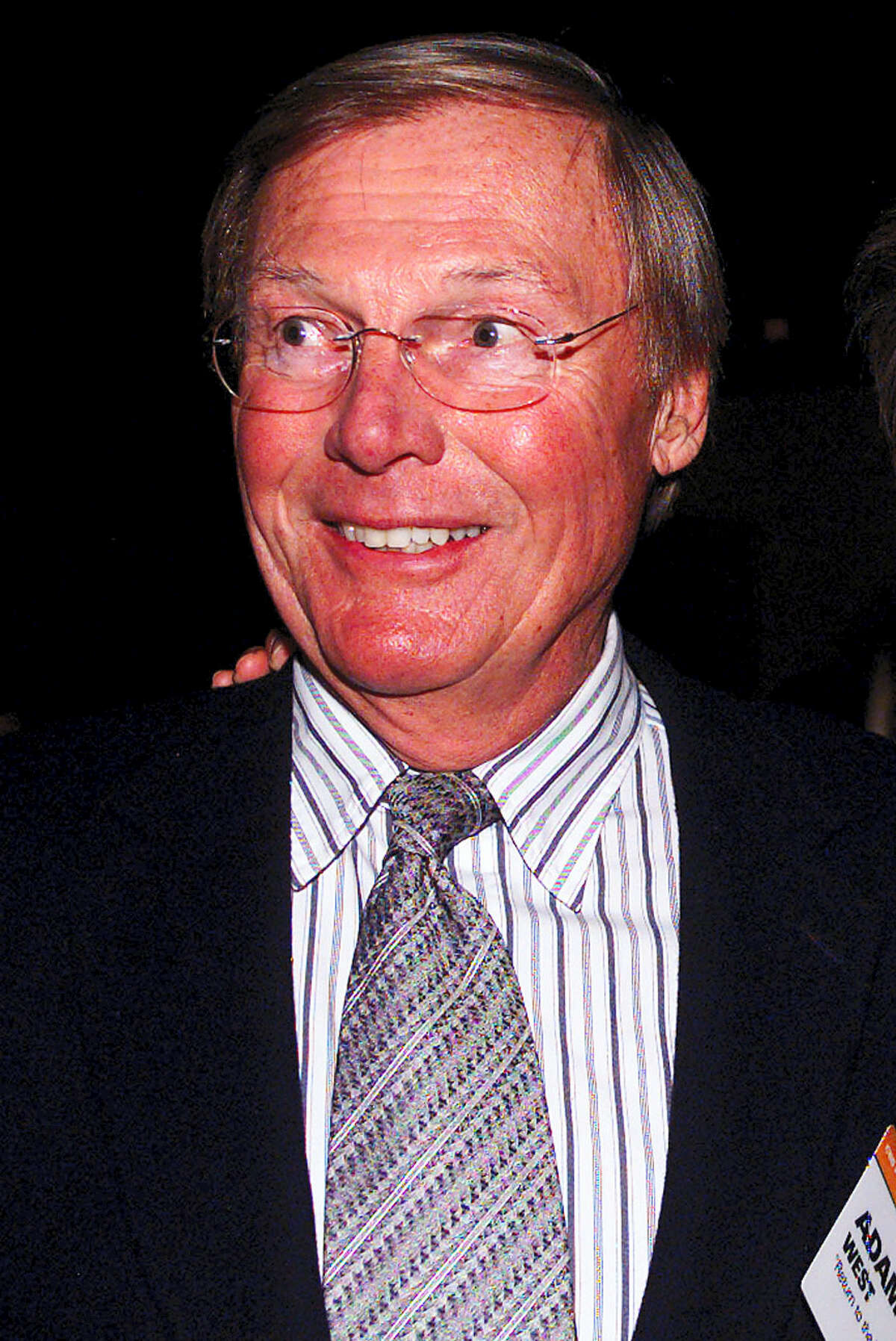 This Jan. 13, 2003, file photo shows actor Adam West in the Hollywood area of Los Angeles. On Saturday, June 10, 2017, his family said the actor, who portrayed Batman in a 1960s TV series, has died at age 88.