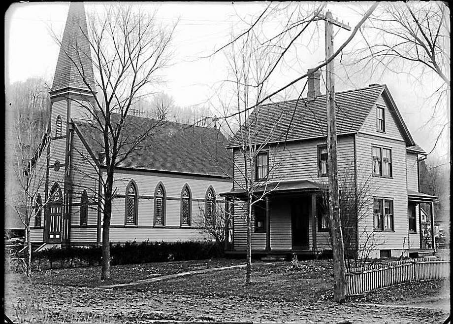 The former Our Lady of Perpetual Help Catholic Church on Green Hill Road in Washington Depot. Photograph by Joseph West, circa 1900. Photo: Photo Courtesy Of The Gunn Historical Museum Collection