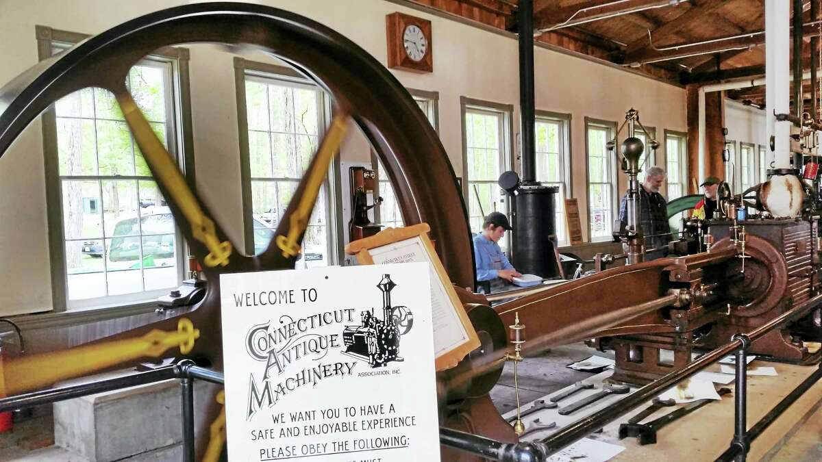 Photo by N.F. AmberyThe Connecticut Antique Machinery Association welcomed guests to its annual Power Up on May 7 in Kent.