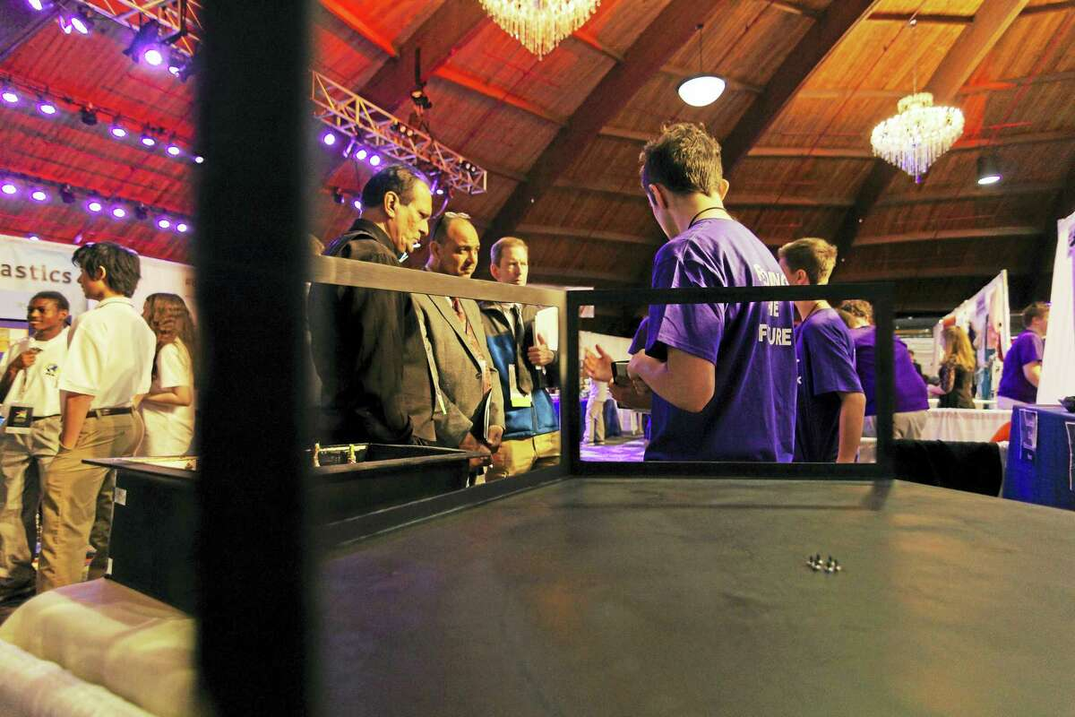 Students showcased projects and films during the two-day Expo Fest in Walling ford.