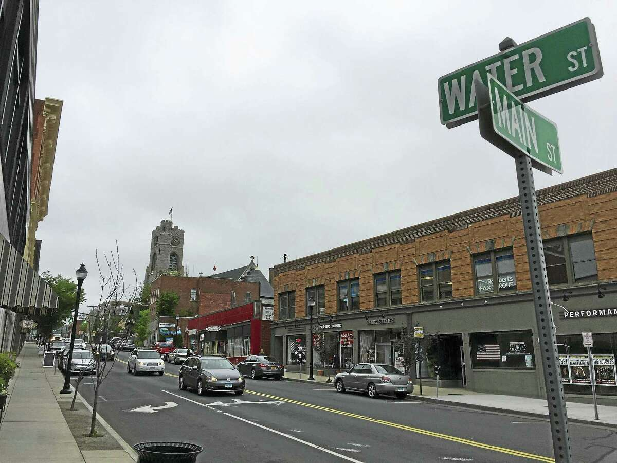 """Water Street, as seen this week in Torrington. Businesses are organizing """"Pop Up Water Street"""" retail events on the street this summer, which will be held the same nights as Main Street Marketplace."""