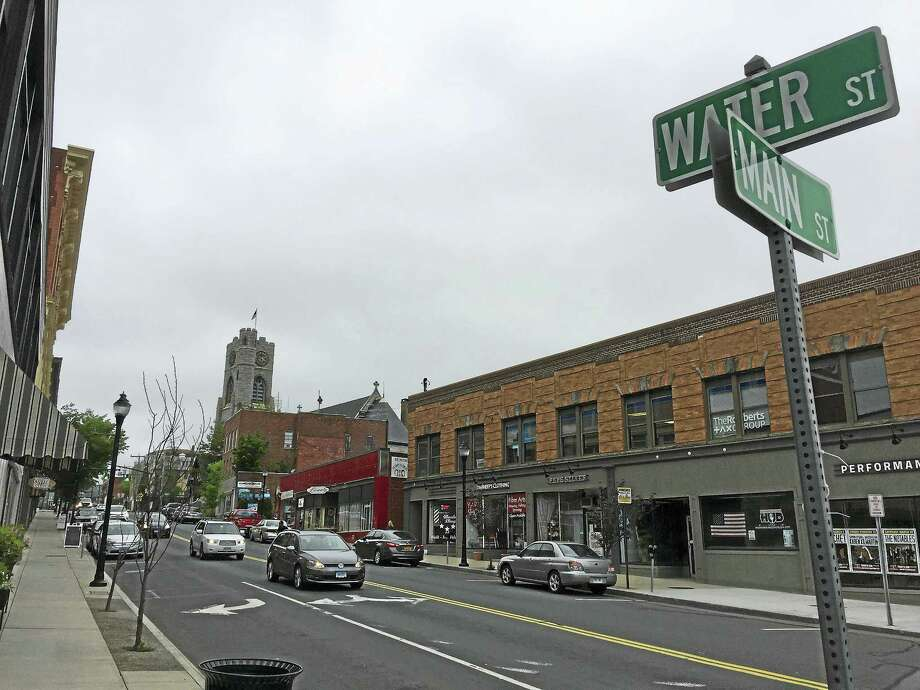 """Water Street, as seen this week in Torrington. Businesses are organizing """"Pop Up Water Street"""" retail events on the street this summer, which will be held the same nights as Main Street Marketplace. Photo: Ben Lambert — The Register Citizen"""