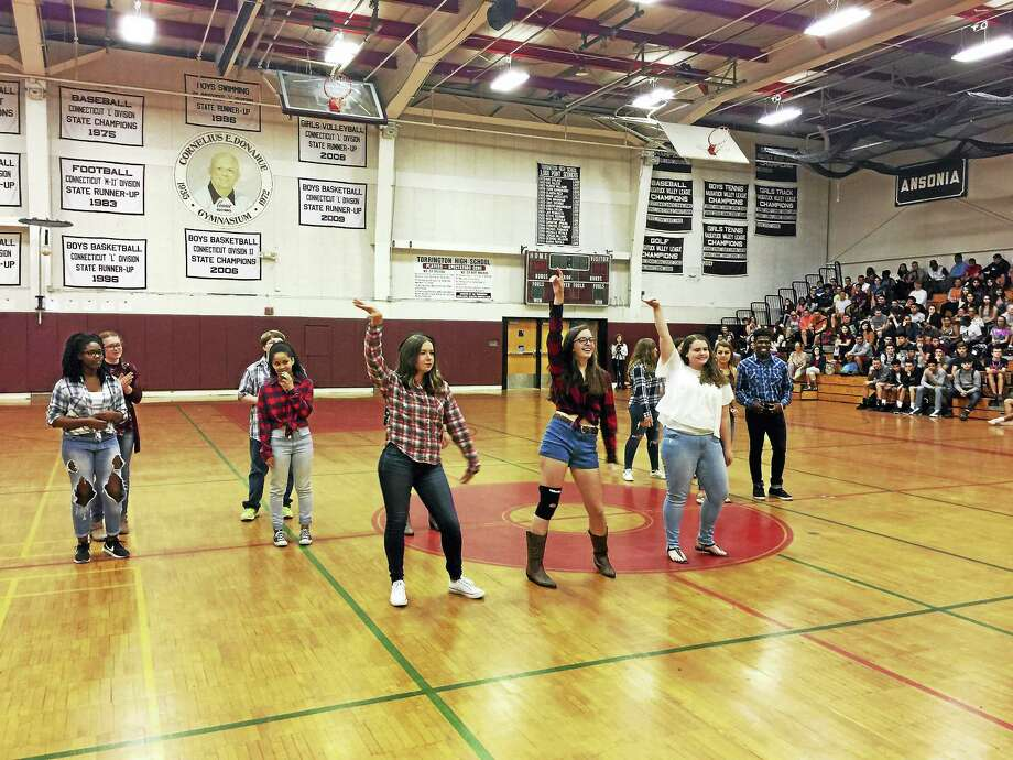 Students performed for their peers Thursday during the annual Diversity Day assembly at Torrington High School. Photo: Ben Lambert — The Register Citizen