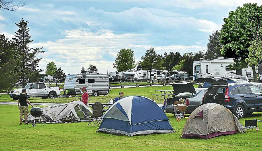Campers Arrive On Memorial Day Weekend Opening The Camping Season At Hammonasset Beach Campgrounds