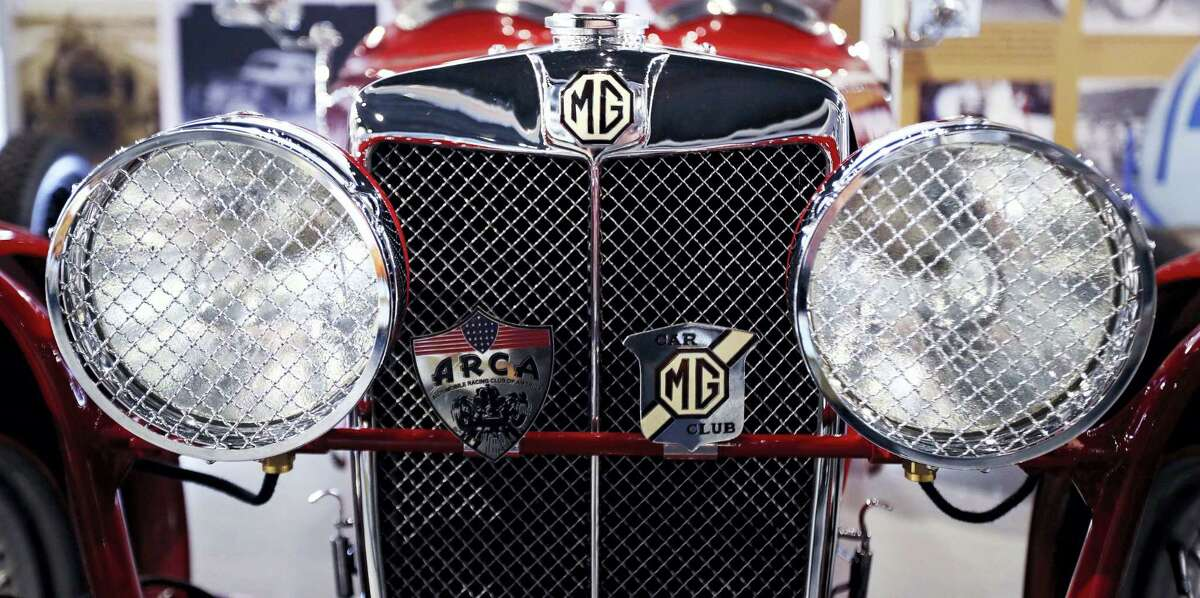 In this Wednesday, May 31, 2017 photograph, the chrome sparkles on a mint 1932 MG J2 race car on display at the North East Motor Sports Museum in Loudon, N.H. The museum dedicated to motorsports in New England resides just outside the front gates the New Hampshire Motor Speedway. (AP Photo/Charles Krupa)
