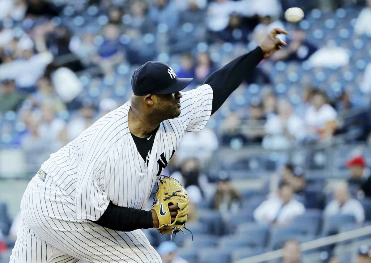 New York Yankees' CC Sabathia won his fifth straight game on Wednesday against the Red Sox.