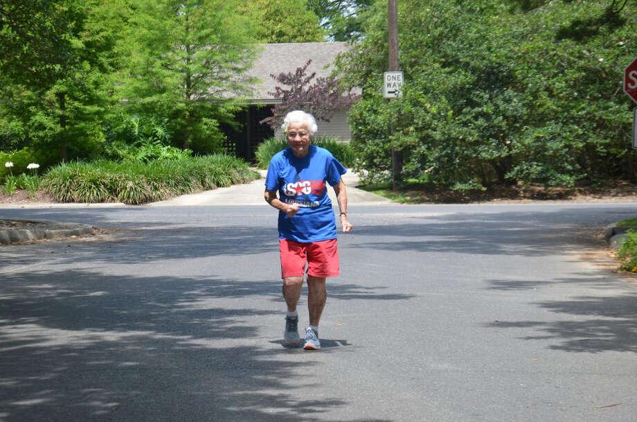 Julia Hawkins, 101, shown here in her Louisiana neighborhood, will compete in the National Senior Games. (Photo courtesy of Sarah Netter) Photo: Sarah Netter / The Washington Post