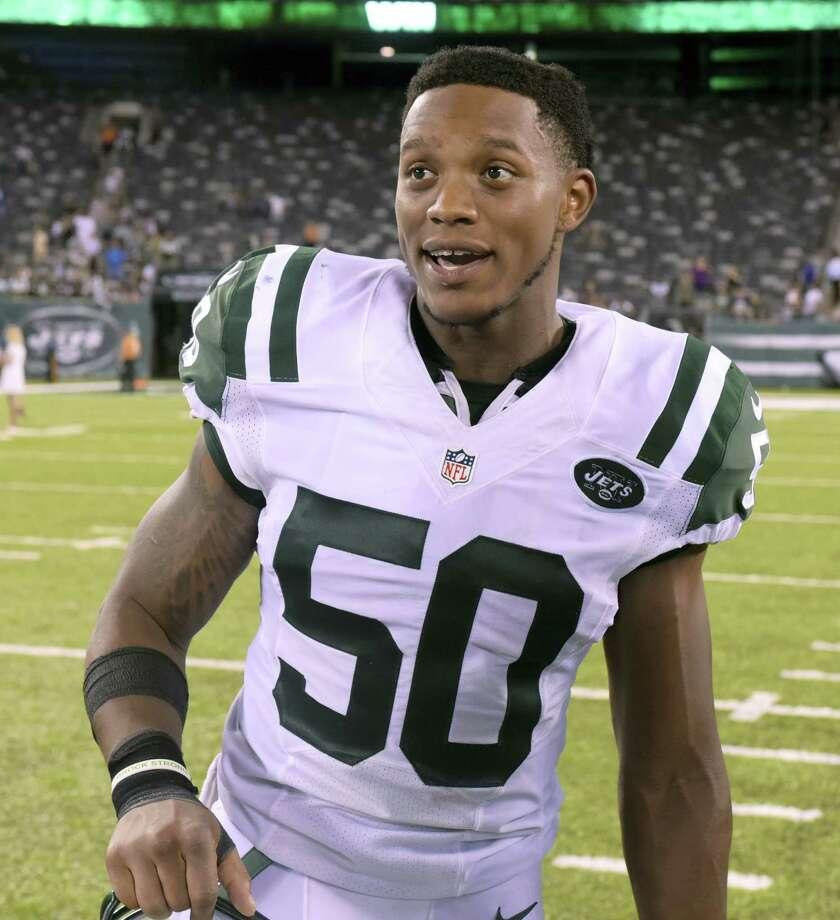 New York Jets outside linebacker Darron Lee. Photo: The Associated Press File Photo  / FR51951 AP