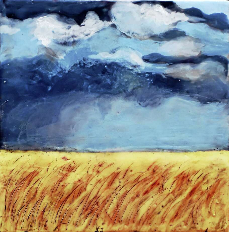 """Contributed photo""""Storm Over Field"""" by Linda Petrocine, whose work will be on display at the Kent Memorial Library. Photo: Digital First Media"""