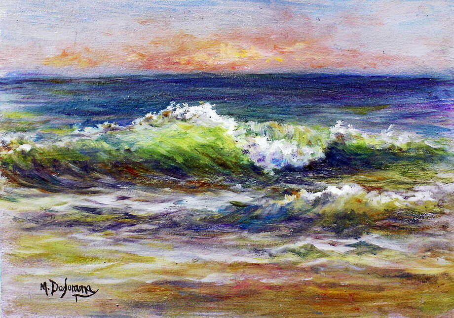"""Catch the Wave"" by Mally DeSomma, who is a featured painter in the upcoming Summer Paint-Out at Fine Line Art Gallery, Woodbury. Photo: Contributed Photo"