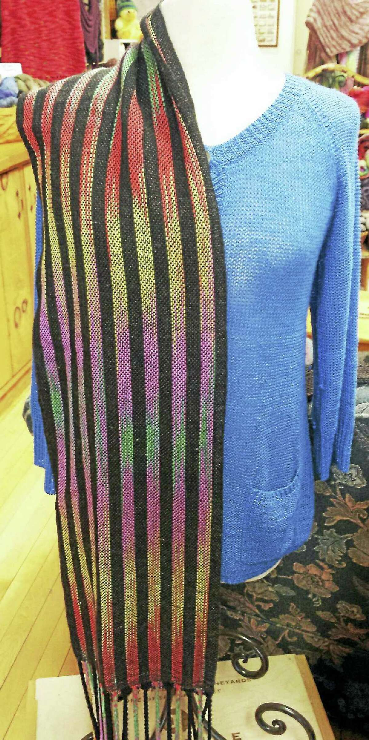 """Photo by Ginger BalchColor pooling is when a multi-colored yarn is dyed in such a way that when it is worked, it creates """"pools"""" of color. One way of working with these yarns is to work two separate skeins at the same time."""