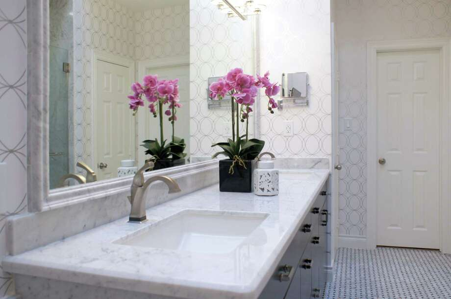 The master bathroom in the Montrose home of Leesa White. Photo: Jeffrey Djayasaputra/Bayou City 360