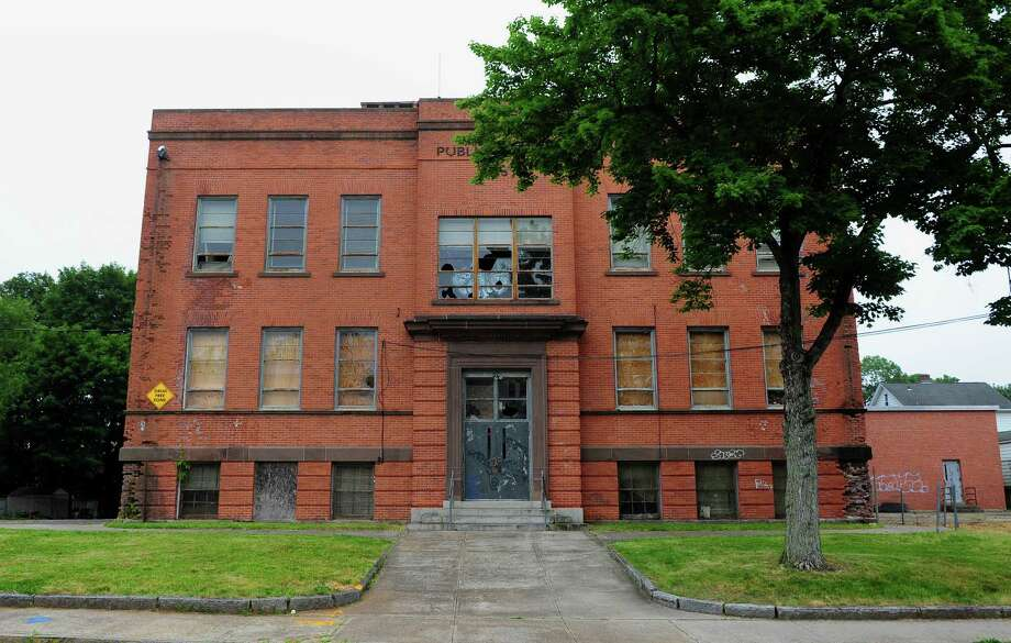 Peck School which educated Ansonia west side children for 95 years will be auctioned Aug. 31 at 6 p.m. in city hall. Photo: Christian Abraham / Hearst Connecticut Media / Connecticut Post