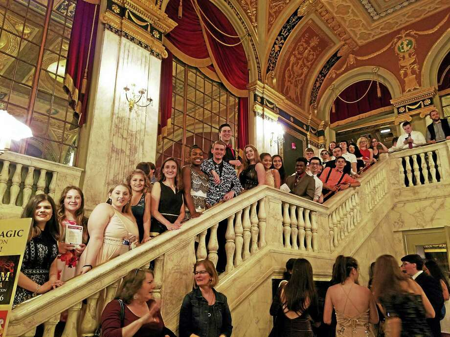Torrington High School students join guests at the Palace Theater in Waterbury for the annual Halo Awards reception and event. Photo: Contributed Photo