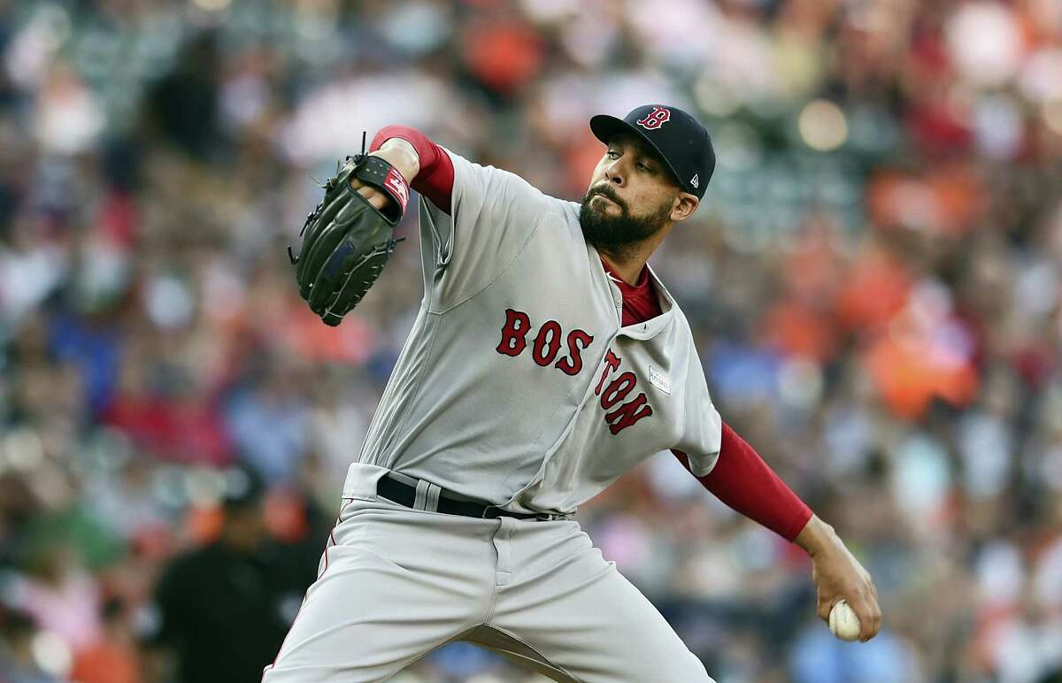 Boston Red Sox pitcher David Price throws against the Baltimore Orioles in the first inning Saturday in Baltimore.