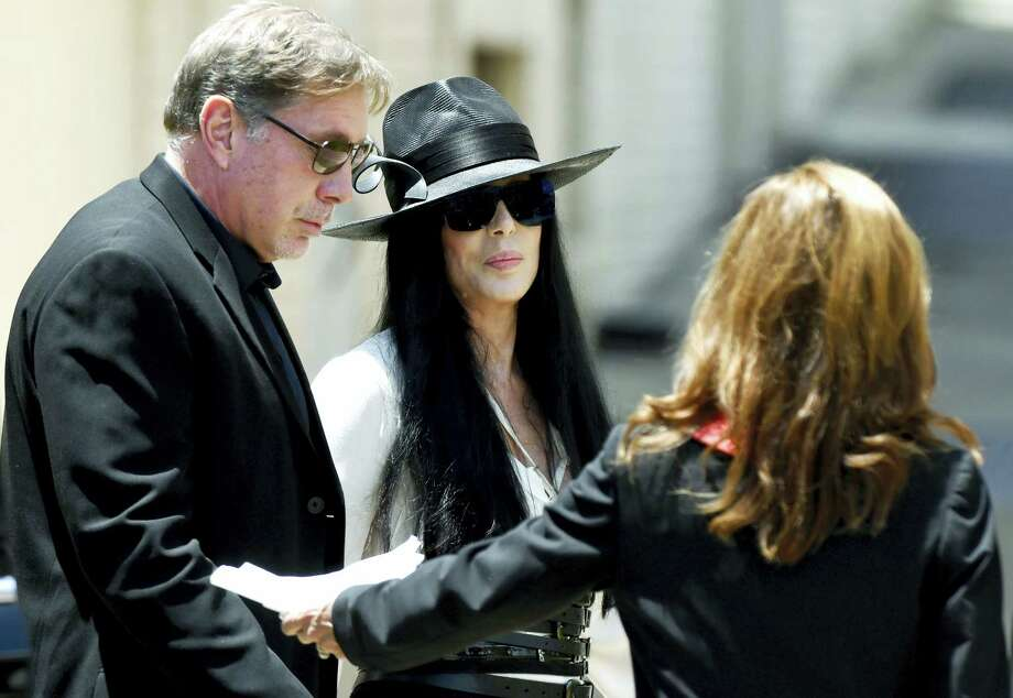 Cher arrives at Snow's Memorial Chapel for the funeral of music legend Gregg Allman Saturday, June 3, 2017, in Macon, Ga.  Southern rocker Gregg Allman was laid to rest Saturday near his older brother Duane in the same cemetery where they used to write songs among the tombstones, not far from US Highway 41. Photo: Jason Vorhees — The Macon Telegraph Via AP  / The Telegraph