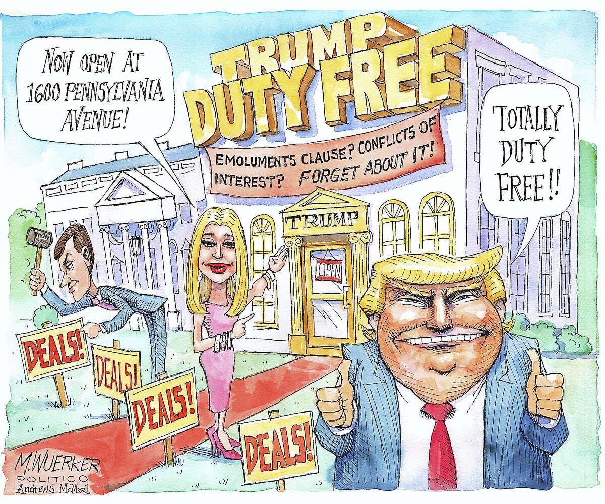 A political cartoon by Matt Wuerker.