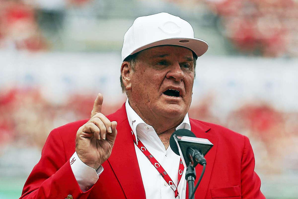 Former Cincinnati Reds player Pete Rose.