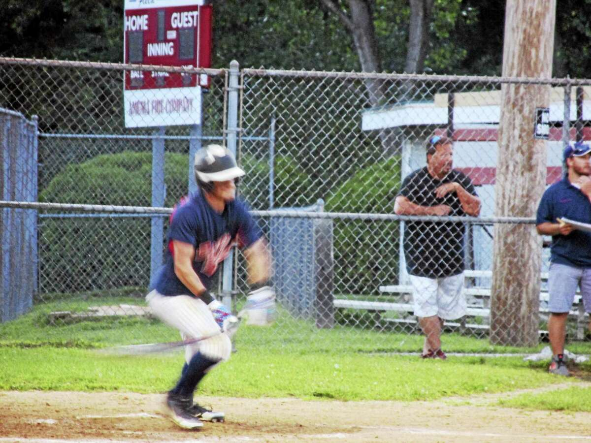 Jimmy Laman had two hits in Torrington's early rush to a big lead against Amenia in the second round of the Northwest Connecticut Connie Mack playoffs at Amenia's Doc Bartlett Field Sunday evening.