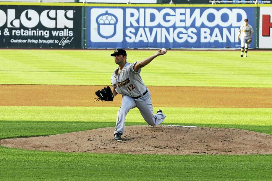 After seven years as a reliever in the Marlins' organization, Madison's Greg Nappo is back to starting again with the independent New Britain Bees. Photo: Photo Courtesy Of The New Britain Bees