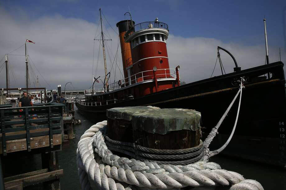 People check out the steam tug HERCULES in the San Francisco Maritime National Historical Park during a free day August 25, 2017 in San Francisco, Calif. Photo: Leah Millis, The Chronicle