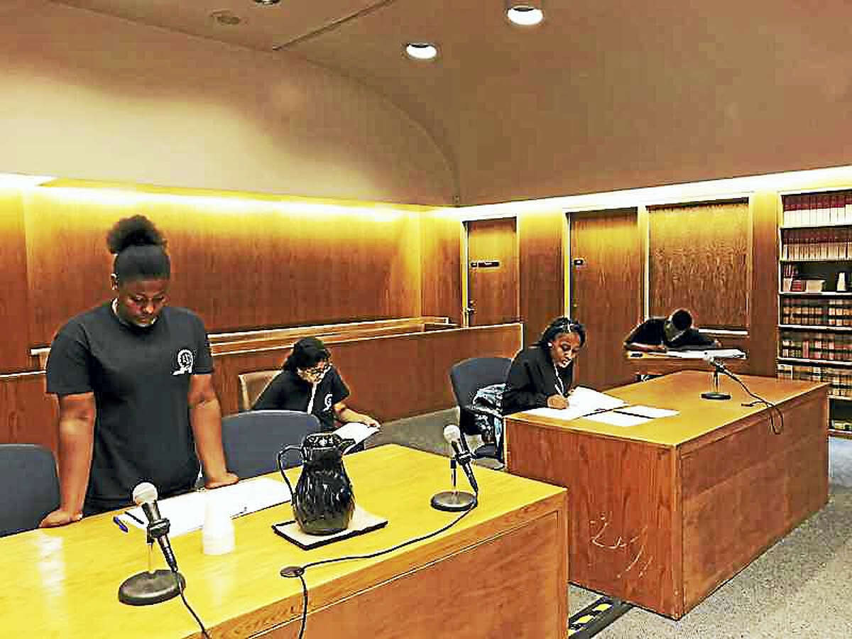 High school students from the Greater New Haven area participate in a camp designed to promote diversity in the legal profession.