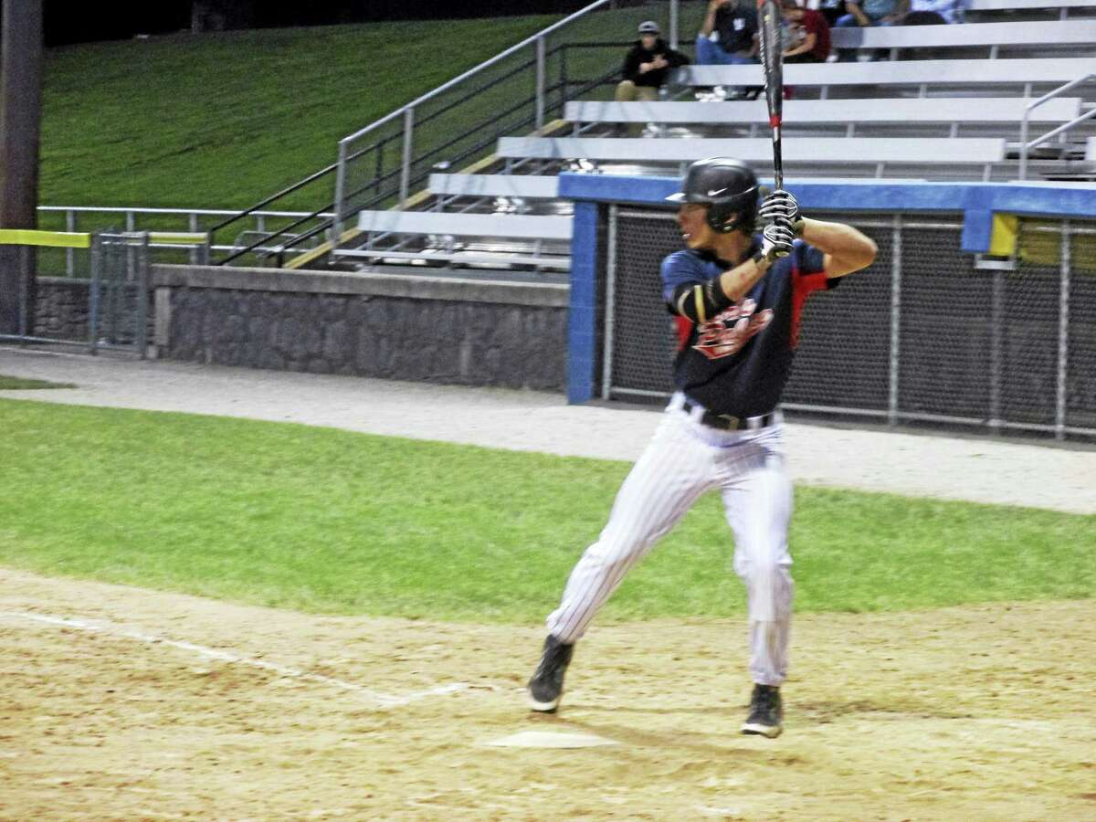 Owen Spino came off the bench for two timely hits in Torrington Connie Mack's win over Terryville in the league's first playoff round Friday night at Fuessenich Park.