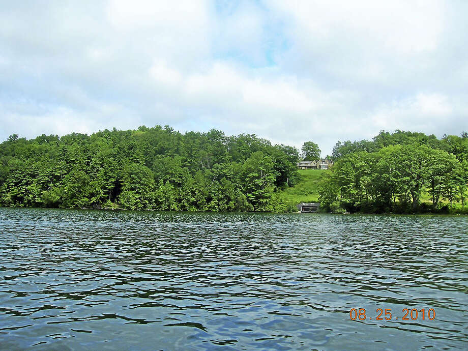 The Lake Wononscopomuc property prior to being cleared of trees. Photo: Photos Courtesy Of William Littauer