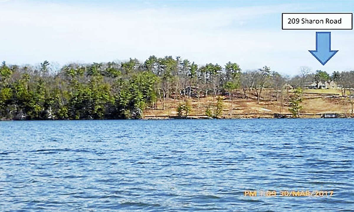 The Lake Wononscopomuc property after the trees had been cleared.