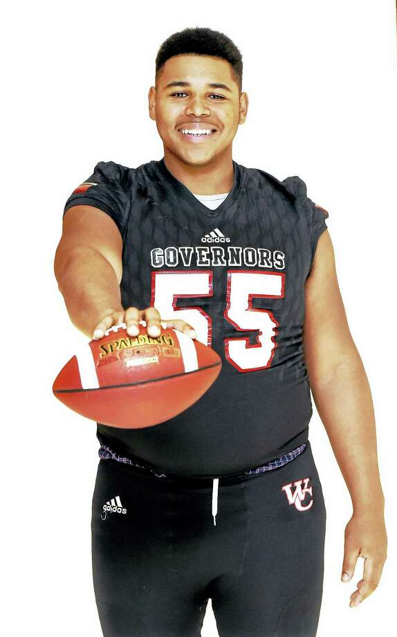 Wilbur Cross lineman Travis Jones has committed to play football at UConn. Photo: Catherine Avalone/Connecticut Hearst Media  / New Haven RegisterThe Middletown Press