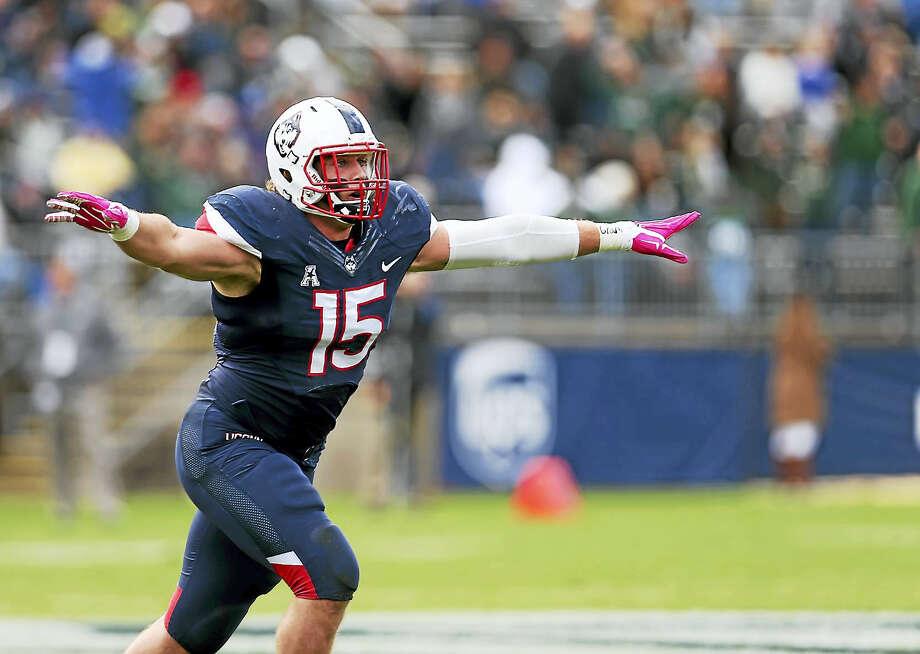 UConn senior linebacker Luke Carrezola. Photo: The Associated Press File Photo  / FR158029 AP