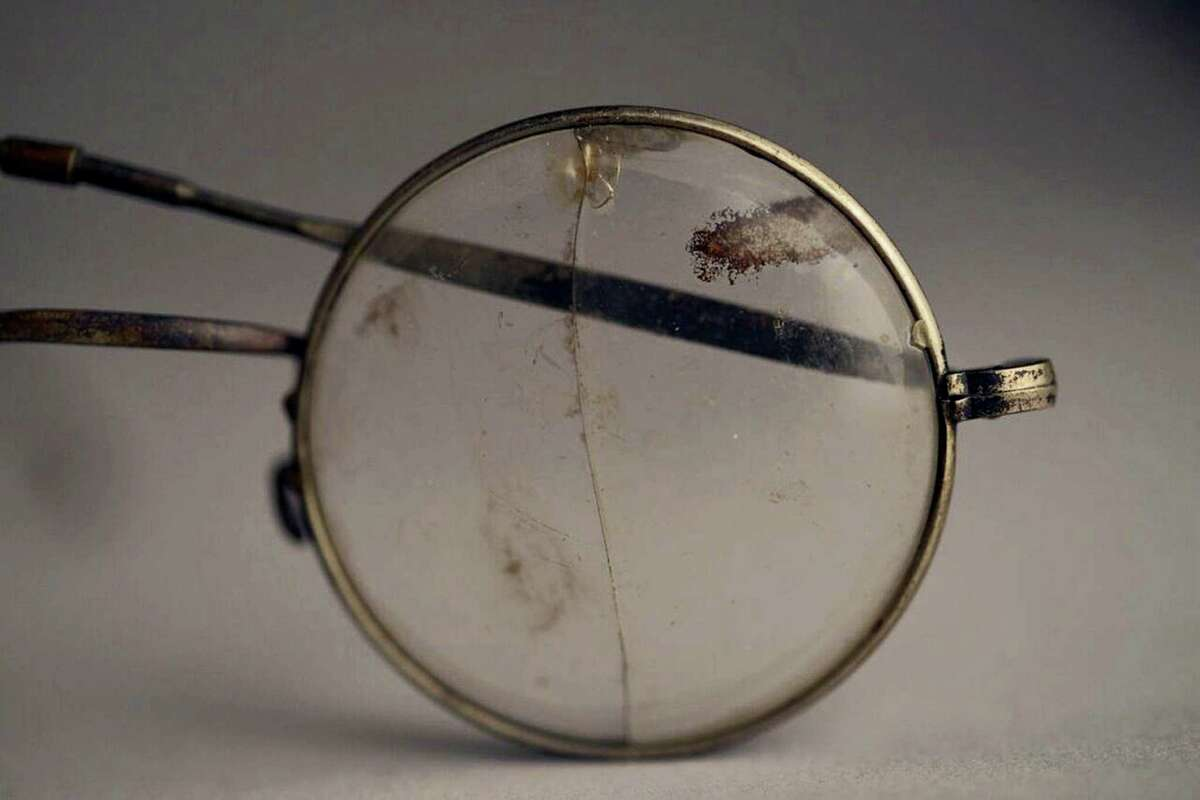 """This photo made available by the Aushwitz Museum on Wednesday, July 26, 2017, shows a pair of glasses that once belonged to a person who perished at the Nazi German death camp. Officials at the museum of the Nazi German death camp of Auschwitz say some exhibits are going on a tour of Europe and North America to bring its tragic truth about the Holocaust to a wider audience. The museum said Wednesday this will be its first-ever traveling exhibition and will include some 600 items. The """"Not long ago: Not far away"""" exhibit will include personal items of the victims and a German freight wagon the Nazis used to bring inmates in."""