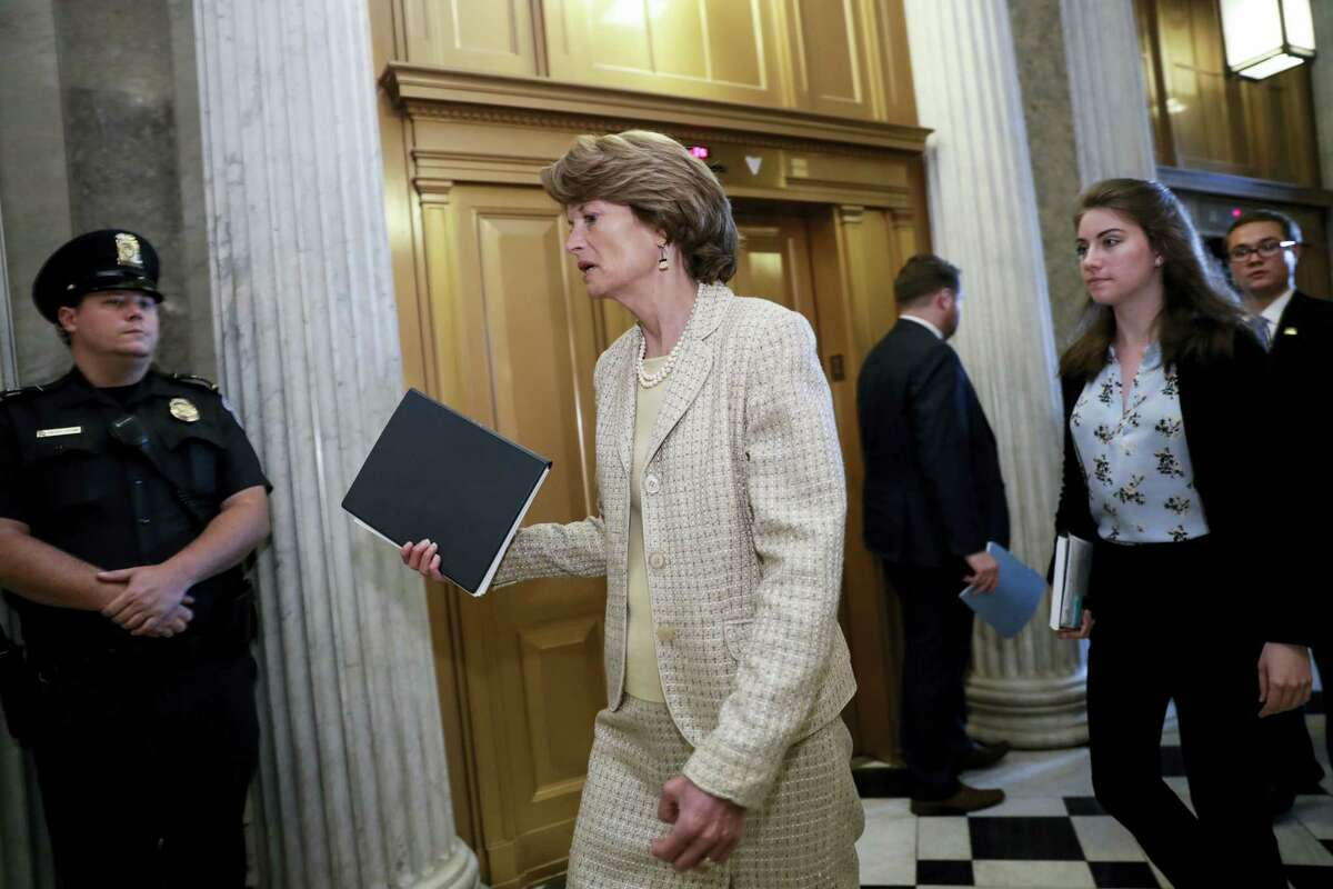 Sen. Lisa Murkowski, R-Alaska, arrives for a vote as the Republican-run Senate rejected a GOP proposal to scuttle President Barack Obama's health care law and give Congress two years to devise a replacement, Wednesday, July 26, 2017, at the Capitol in Washington. President Donald Trump and Senate Majority Leader Mitch McConnell, R-Ky., have been stymied by opposition from within the Republican ranks.