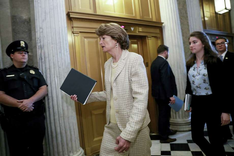 Sen. Lisa Murkowski, R-Alaska, arrives for a vote as the Republican-run Senate rejected a GOP proposal to scuttle President Barack Obama's health care law and give Congress two years to devise a replacement, Wednesday, July 26, 2017, at the Capitol in Washington. President Donald Trump and Senate Majority Leader Mitch McConnell, R-Ky., have been stymied by opposition from within the Republican ranks. Photo: J. Scott Applewhite / AP Photo  / Copyright 2017 The Associated Press. All rights reserved.