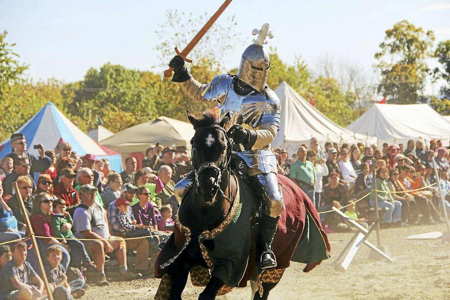 A jousting knight at a Connecticut Renaissance Faire event. Photo: CRF Photo