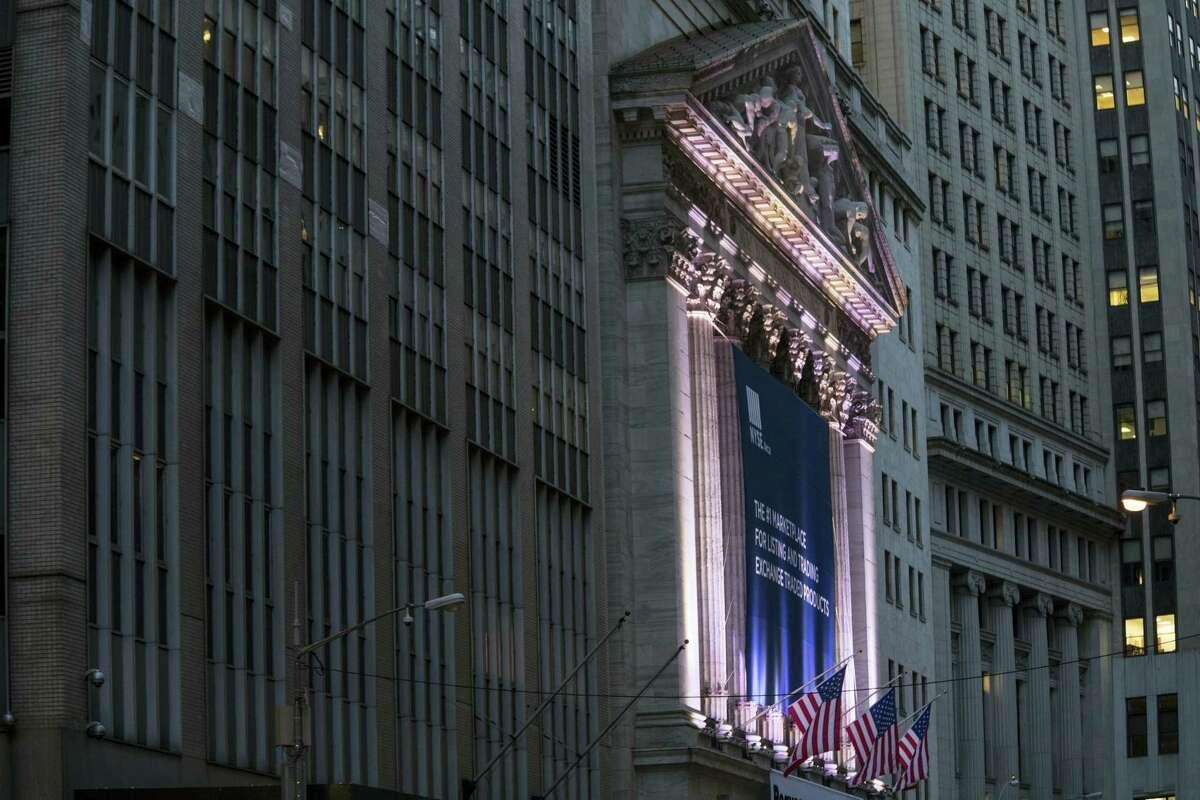 The New York Stock Exchange, in lower Manhattan.