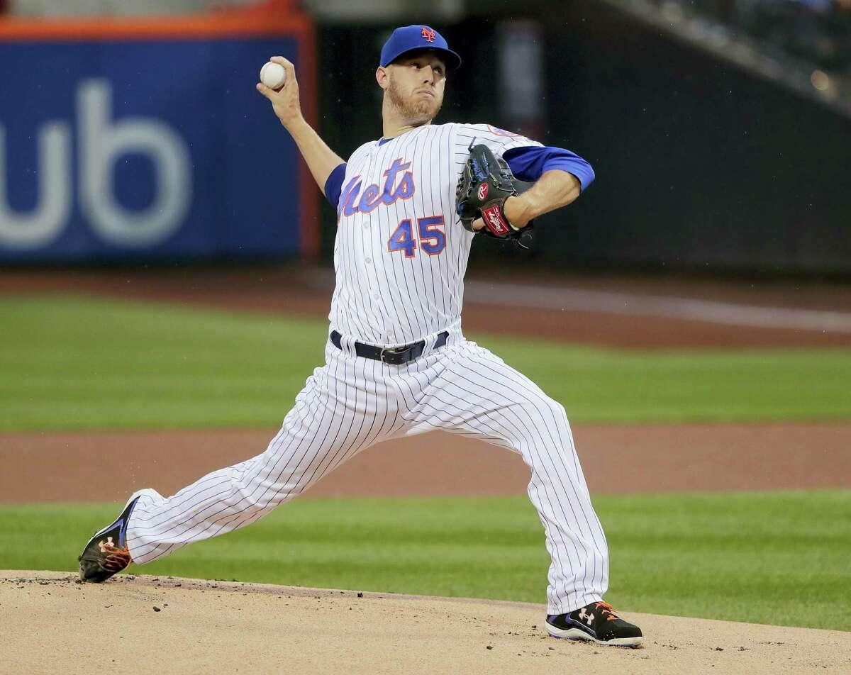 New York Mets starting pitcher Zack Wheeler.