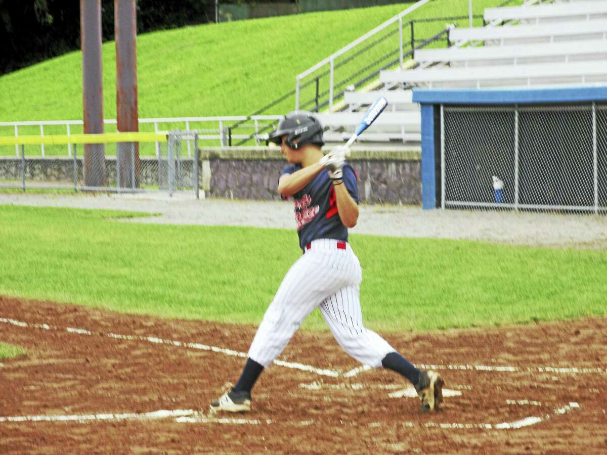 Mason Condriet drove in Torrington's first two runs in a Connie Mack win over Terryville Monday at Fuessenich Park.