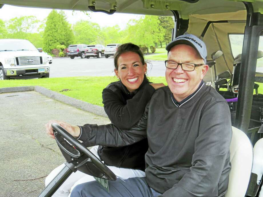 Jeff Geddes and Christine Bascetta attended the tournament. Photo: Photos Courtesy Of The United Way Of Northwest Connecticut