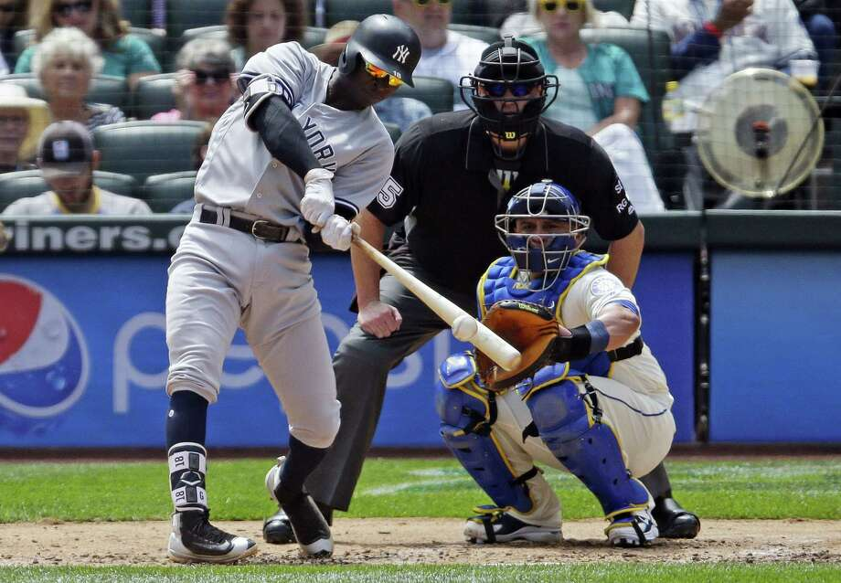 Didi Gregorius hits a solo home run in the fourth inning on Sunday. Photo: The Associated Press   / Copyright 2017 The Associated Press. All rights reserved.
