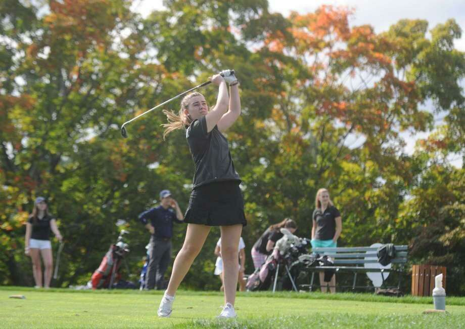 Caroline Dyms, a top golfer at the Convent of the Sacred Heart, was found dead Friday at her home in northern Westchester County, N.Y. Photo: / Tyler Sizemore