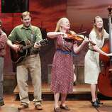 "Stages Repertory Theatre's ""Woody Sez: The Life and Music of Woody Guthrie"" stars, from left, Spiff Wiegand, Ben Hope, Megan Loomis and Katie Barton."